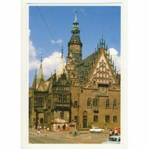 Wrocław gotycki ratusz WIDOKÓWKA WR8799