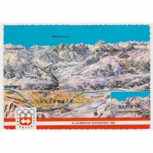 AUSTRIA INNSBRUCK MAPKA WIDOKÓWKA A67600