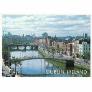 IRLANDIA DUBLIN MOST WIDOKÓWKA A68127