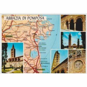 ABBAZIA DI POMPOSA MAPKA WIDOKÓWKA A69110