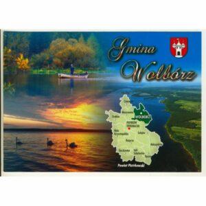 GMINA WOLBÓRZ MAPKA HERB WIDOKÓWKA WR9373
