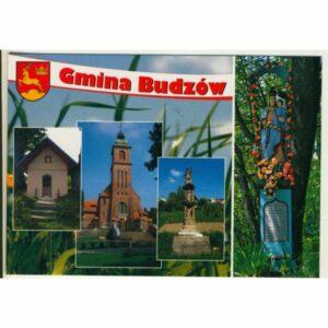 GMINA BUDZÓW HERB WIDOKÓWKA WR9381