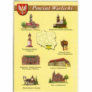 POWIAT WIELICKI MAPKA HERB WIDOKÓWKA WR9385
