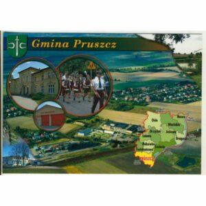 GMINA PRUSZCZ MAPKA HERB WIDOKÓWKA WR9387