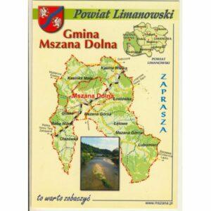 GMINA MSZANA DOLNA MAPKA HERB WIDOKÓWKA WR9388