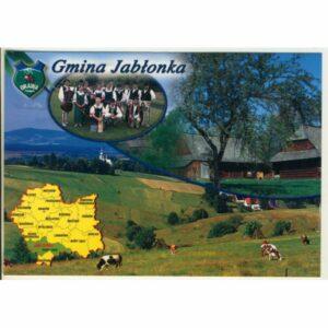 GMINA JABŁONKA MAPKA HERB WIDOKÓWKA WR9390
