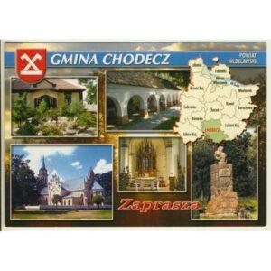 GMINA CHODECZ MAPKA HERB WIDOKÓWKA WR9392