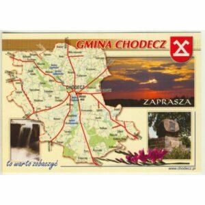 GMINA CHODECZ MAPKA HERB WIDOKÓWKA WR9396