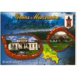 GMINA MSZCZONÓW MAPKA HERB WIDOKÓWKA WR9406