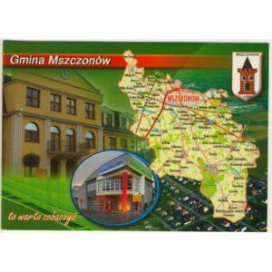 GMINA MSZCZONÓW MAPKA HERB WIDOKÓWKA WR9407