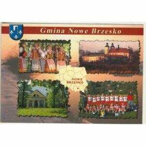 GMINA NOWE BRZESKO MAPKA HERB WIDOKÓWKA WR9412