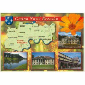 GMINA NOWE BRZESKO MAPKA HERB WIDOKÓWKA WR9413