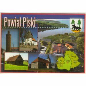 POWIAT PISKI MAPKA HERB WIDOKÓWKA WR9416