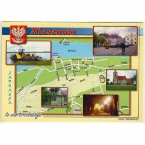 NIESZAWA MAPKA HERB WIDOKÓWKA WR9434