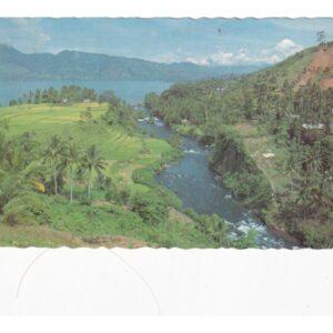 INDONEZJA SUMATRA JEZIORO SINGKARAK WIDOKÓWKA A71813