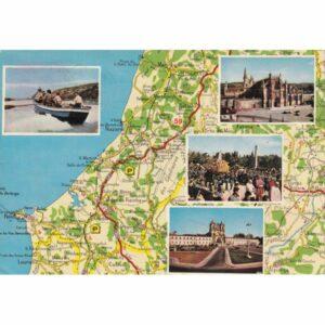 PORTUGALIA MAPKA POCZTÓWKA A71578
