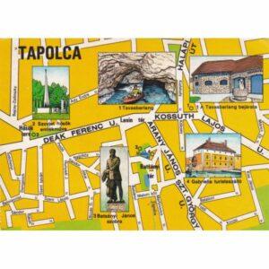 TAPOLCA WĘGRY MAPKA POCZTÓWKA A71579