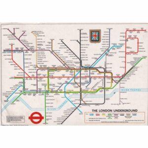 ANGLIA LONDYN METRO MAPKA POCZTÓWKA A71635