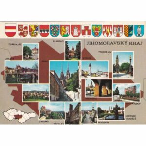 CZECHY JIHOMORAVSKY KRAJ MAPKA WIDOKÓWKA A71640