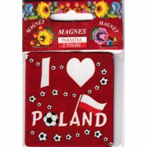 MAGNES NA LODÓWKĘ POLSKA FLAGA I LOVE POLAND 2424