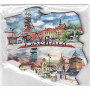 MAGNES NA LODÓWKĘ BOCHNIA FLAGA POLSKA 2468