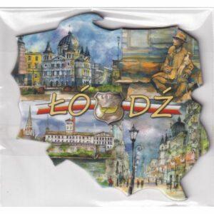 MAGNES NA LODÓWKĘ Łodź FLAGA HERB 2543