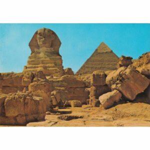 EGIPT GIZA SFINKS PIRAMIDA CHEFRENA WIDOKÓWKA A72470