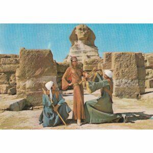 EGIPT GIZA SFINKS TANCERKA WIDOKÓWKA A72472