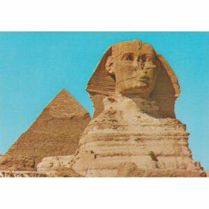 EGIPT GIZA SFINKS PIRAMIDA CHEFRENA WIDOKÓWKA A72473