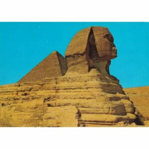 EGIPT GIZA SFINKS PIRAMIDA CHEFRENA WIDOKÓWKA A72474