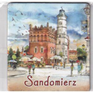 MAGNES NA LODÓWKĘ Sandomierz AKWARELA 2571