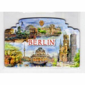 MAGNES NA LODÓWKĘ Berlin NIEMCY AKWARELA 2582
