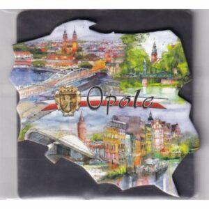 MAGNES NA LODÓWKĘ Opole HERB FLAGA 2588