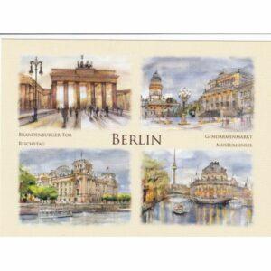 BERLIN WIDOKÓWKA AKWARELA CZ-BERLIN-07