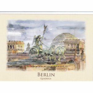 BERLIN KWADRYGA WIDOKÓWKA AKWARELA CZ-BERLIN-04