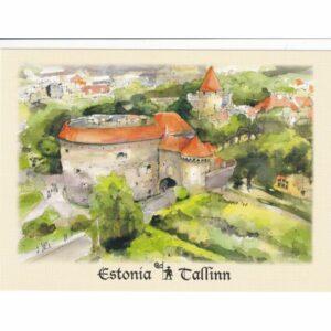 ESTONIA TALLINN PAKS MARGAREETA WIDOKÓWKA AKWARELA CZ-TALLINN-04