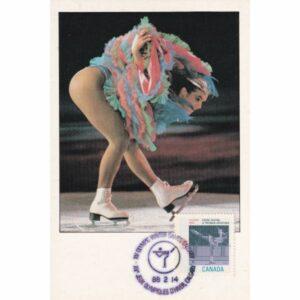 KANADA CALGARY 1988 ZIMOWE IGRZYSKA OLIMPIJSKIE ŁYŻWIARSTWO FIGUROWE MAXIMUM ZNACZEK WIDOKÓWKA A72933