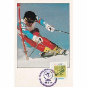 KANADA CALGARY 1988 ZIMOWE IGRZYSKA OLIMPIJSKIE NARCIARSTWO ALPEJSKIE MAXIMUM ZNACZEK WIDOKÓWKA A72934