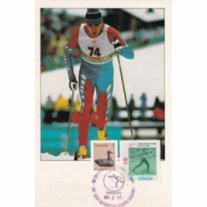 KANADA CALGARY 1988 ZIMOWE IGRZYSKA OLIMPIJSKIE NARCIARSTWO BIEGOWE MAXIMUM ZNACZEK WIDOKÓWKA A72935