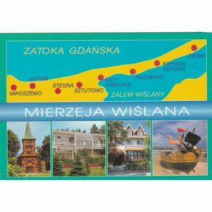 MIERZEJA WIŚLANA MAPKA WIDOKÓWKA A73519