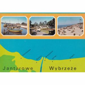 JANTAROWE WYBRZEŻE MAPKA WIDOKÓWKA A73524