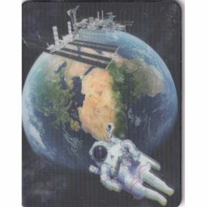 MAGNES 3D TRÓJWYMIAROWY kosmos SATELITA ASTRONAUTA 2854
