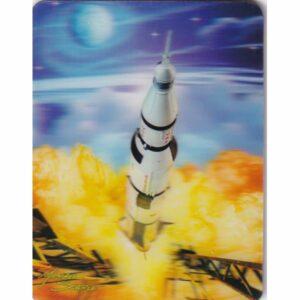 MAGNES 3D TRÓJWYMIAROWY kosmos RAKIETA 2857