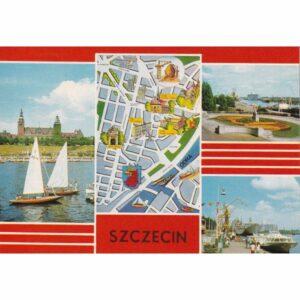 SZCZECIN MAPKA WIDOKÓWKA A73929