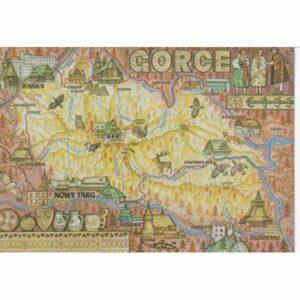 GORCE MAPKA WIDOKÓWKA A73934
