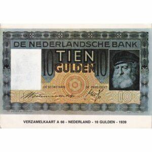 HOLANDIA 10 GULDENÓW BANKNOT POCZTÓWKA A74091