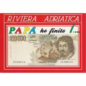 WŁOCHY RIVIERA ADRIATICA 100000 LIRÓW BANKNOTY POCZTÓWKA A74096