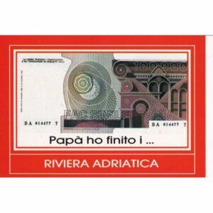WŁOCHY RIVIERA ADRIATICA 100000 LIRÓW BANKNOTY POCZTÓWKA A74100