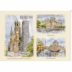 BERLIN WIDOKÓWKA AKWARELA CZ-BERLIN-10