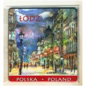 MAGNES NA LODÓWKĘ ŁÓDŹ POLSKA AKWARELA 1182